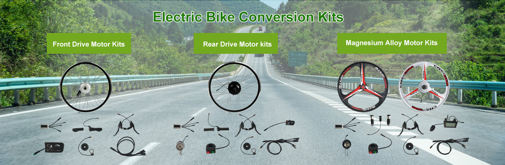 FOUND MOTOR Electric bike conversion kit