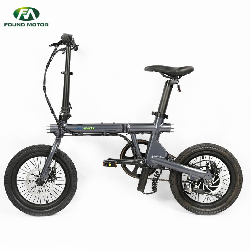 16-inch aluminum alloy integrated wheel and Single speed for foldable electric bike