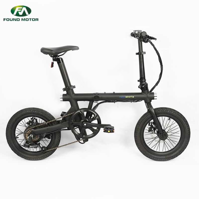 16-inch aluminum alloy integrated wheel and optional colour for foldable electric bike