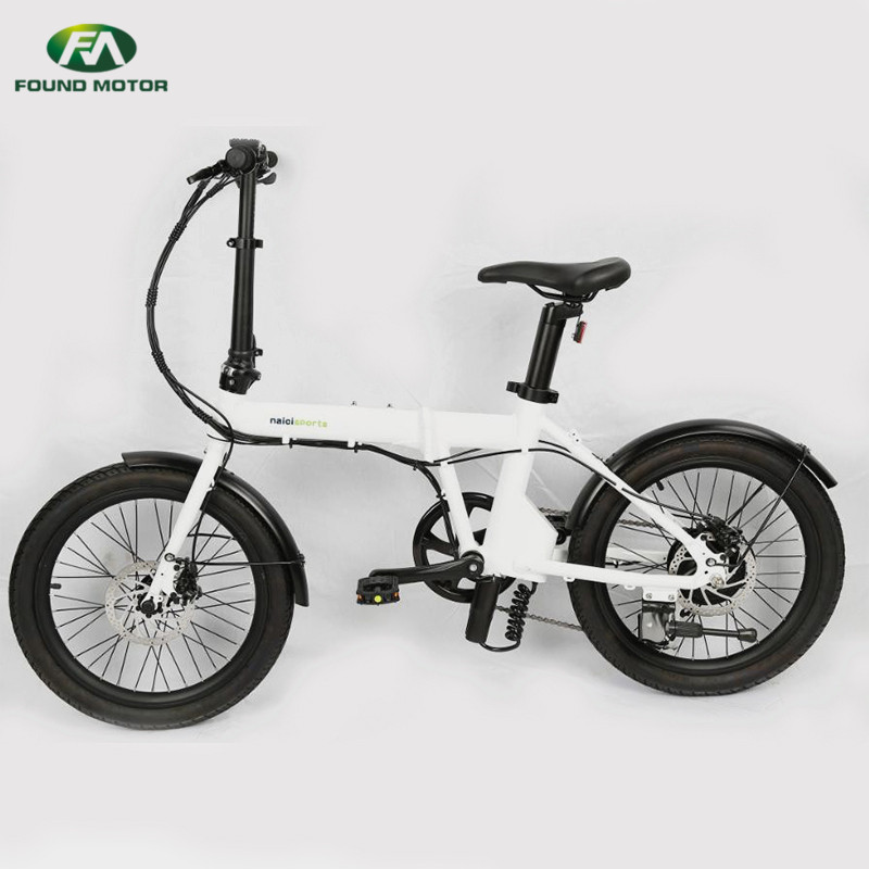 20 inch spoke wheel and 36V5.2AH lithium battery, 250W brushless geared motor for foldable electric bike
