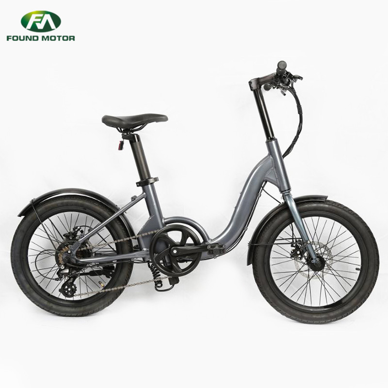 36V5.2AH lithium battery, 350W brushless geared motor, front and rear disc brakes for foldable electric bike